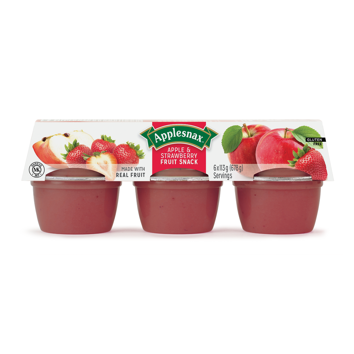 Applesnax Apple & Strawberry Cups