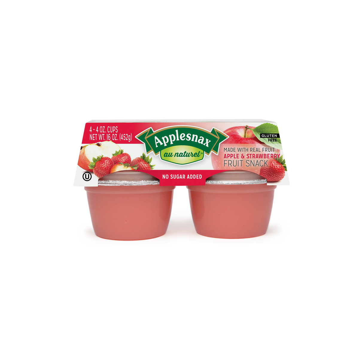 Au Naturel Apple Strawberry Usa 4 Cups