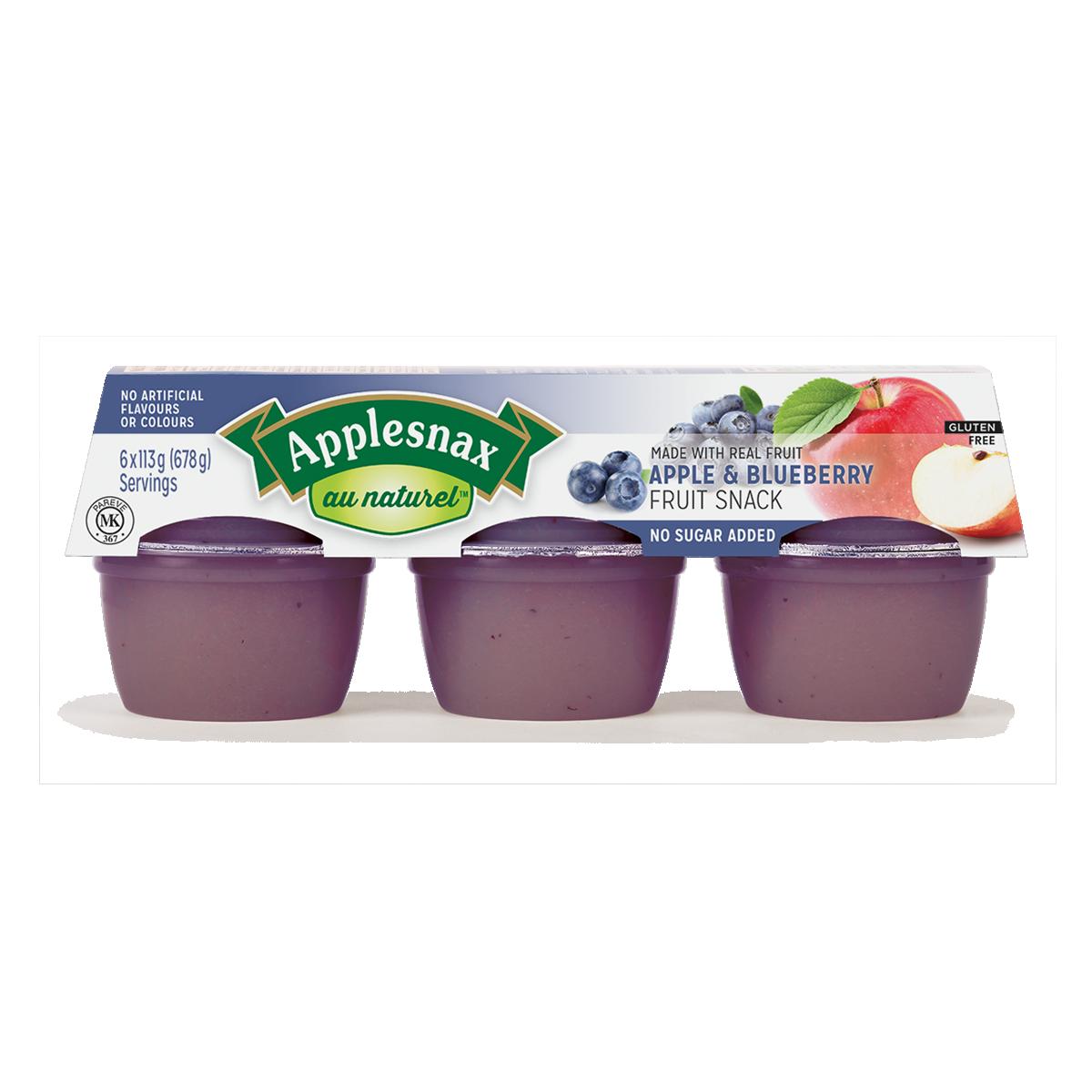 Applesnax Au Naturel Apple &  Blueberry Cups