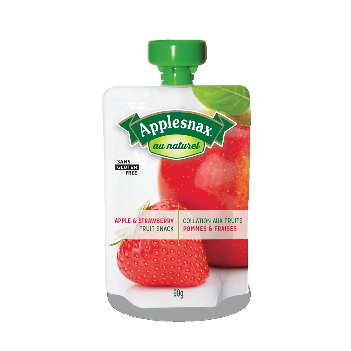 Applesnax Au Naturel Apple & Strawberry Pouches