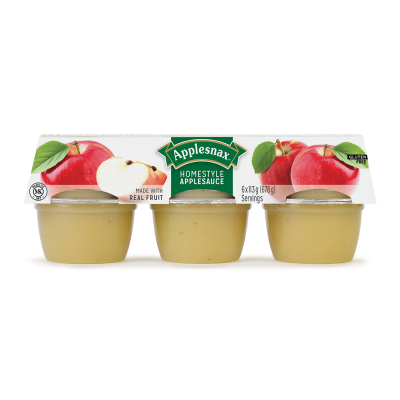 Applesnax Homestyle Applesauce Cups