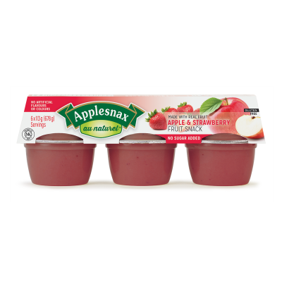 Applesnax  Au Naturel Apple & Strawberry Cups