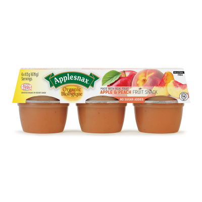 Applesnax Organic Peach Cups