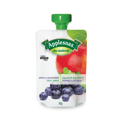 Applesnax Au Naturel Apple & Blueberry Pouch