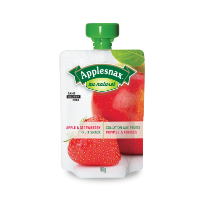 Applesnax Au Naturel Apple & Strawberry Pouches
