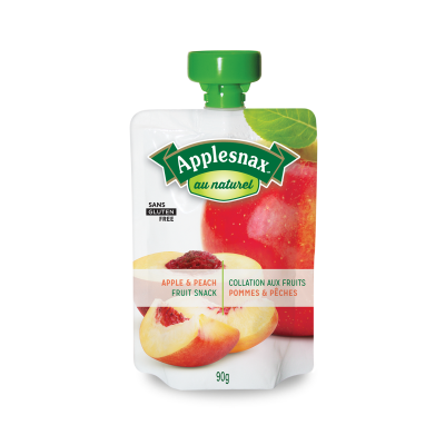 Applesnax Au Naturel Apple & Peach Pouches